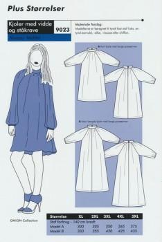 Onion 9023 Plus -kjole med vidde og ståkrave