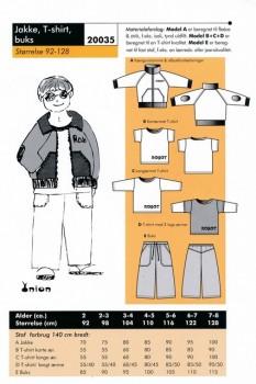 Onion 20035 -Jakke, T-shirt og buks