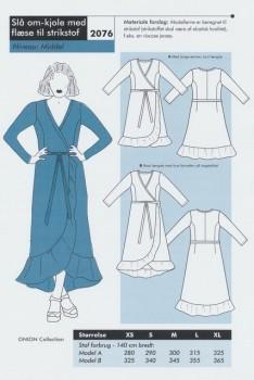 Onion 2076 -Slå om-kjole med flæse til strikstof