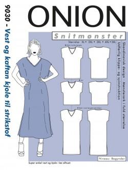 Onion 9030 Plus-Vest og kaftan kjole til strikstof