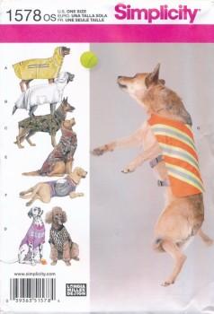 Simplicity 1578 Tøj til store hunde