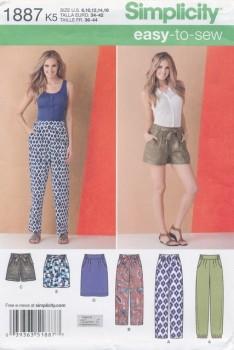 Simplicity 1887 Bukser/nederdel/shorts