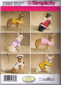 Simplicity 2393 Tøj til små hunde, vest