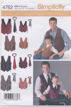 Simplicity 4762 Drenge/herre vest/slips