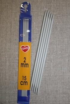Strømpepinde 2-3½, korte