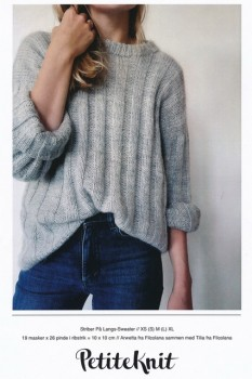 Striber på langs- Sweater - PetiteKnit strikkeopskrift