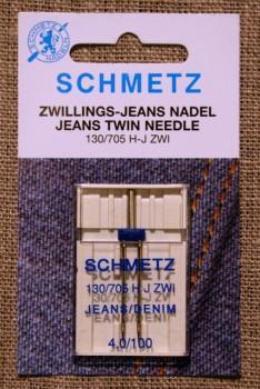 Symaskine Tvillingenål jeans, 4 mm.