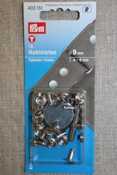 Pyntenitter 9 mm. sølv