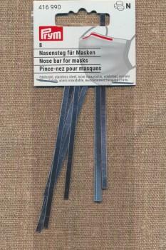 Næse bøjle til maske 3x101 mm. i sølv
