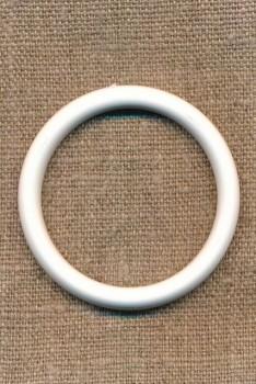 Plastring - Gardin ring hvid 40/50 mm.