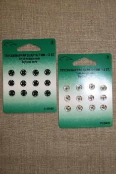 Tryklåse 7 mm. sort og sølv