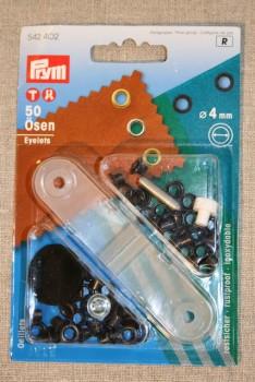 Prym Snøreringe 4 mm. oxyderet