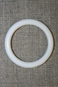 Plastring - Gardin ring hvid 29 mm.