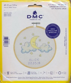 DMC Broderi kit 15 cm. Baby Måne