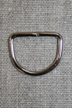 D-ring sølv, 20 mm.