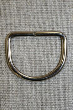 D-ring sølv, 25 mm.