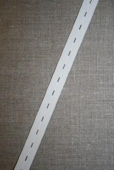 Knaphulselastik hvid 16 mm.