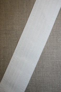 Elastik til bælter/linning 58 mm. hvid