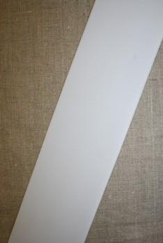 80 mm. kraftig elastik hvid