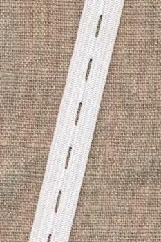Knaphulselastik hvid 14 mm.