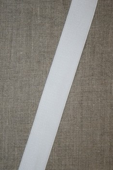 25 mm. elastik hvid blød - blank