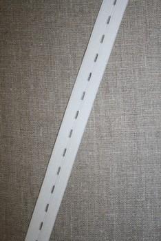 Knaphulselastik hvid 19 mm.