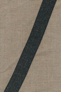 35 mm. koksgrå elastik transperant
