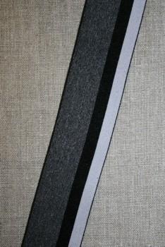 Elastik til undertøj 40 mm. stribet grå lysegrå
