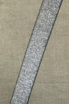 Elastik til bælter 30 mm. sølv