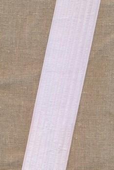 Elastik til bælter 60 mm. hvid