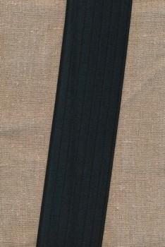Elastik til bælter 60 mm. sort