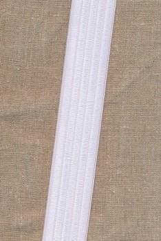 Elastik til bælter 40 mm. hvid