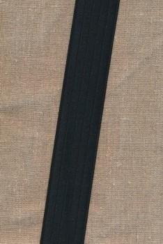 Elastik til bælter 40 mm. sort