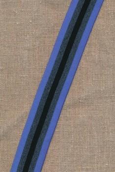 Elastik til undertøj 35 mm. stribet blå, grå sort