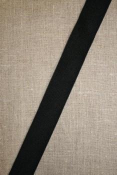 25 mm. elastik sort