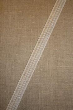 Pose med 2 meter 25 mm. elastik hvid-transparent