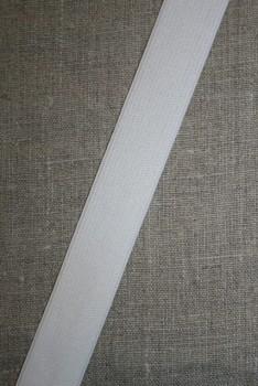 Rest 25 mm. elastik hvid, 115 cm.