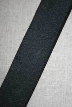 Rest 50 mm. elastik sort, 55 cm.