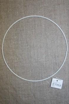 Metalring hvid 15 cm.