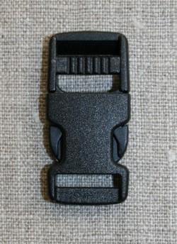 Klik spænde sort 15 mm.