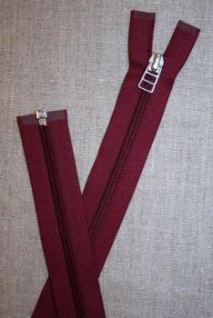 56 cm delbar lynlås YKK vinrød