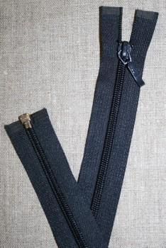 55 cm. delbar lynlås, YKK mørkeblå