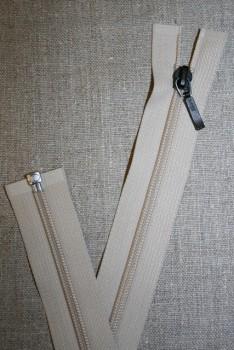 55 cm delbar lynlås kit m/sort vedhæng