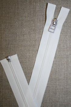 69 cm lynlås m/sølv vedhæng, hvid