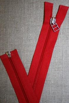 69 cm lynlås m/sølv vedhæng, rød