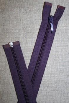 68 cm delbar lynlås YKK, mørkelilla
