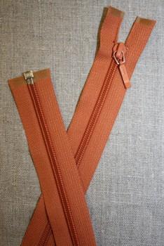 61 cm. delbar lynlås YKK, brændt orange