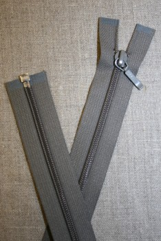 61 cm. delbar lynlås YKK, grå