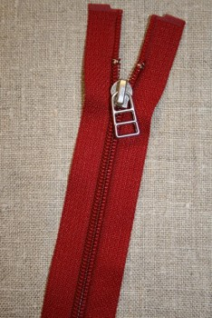 63 cm rød delbar lynlås