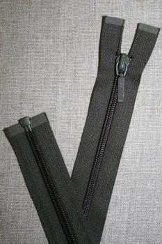 27 cm. delbar lynlås YKK, army